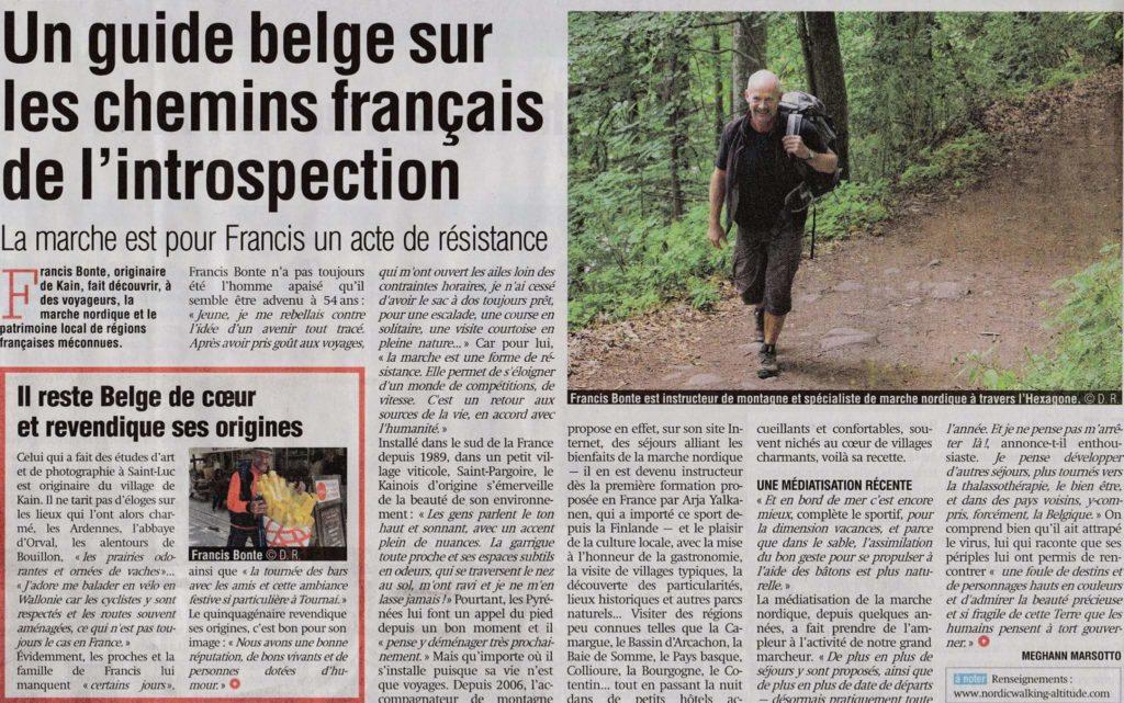 Article de presse sur Francis Bonte